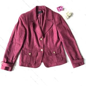 Wool blend red blazer
